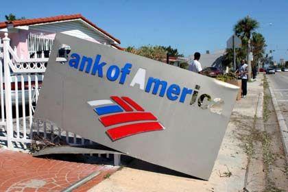Angeschlagen: die Kreditkrise hat die Bank of America heftig aus der Bahn geworfen