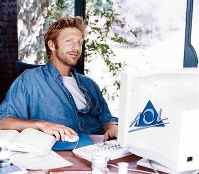 """Ehemalige AOL-Werbung mit Boris Becker: """"Bin ich denn schon drin?"""""""