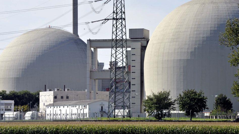 Ende in Sicht: Das Atomkraftwerk Biblis A in Hessen ist eines der ersten, das abgeschaltet werden soll