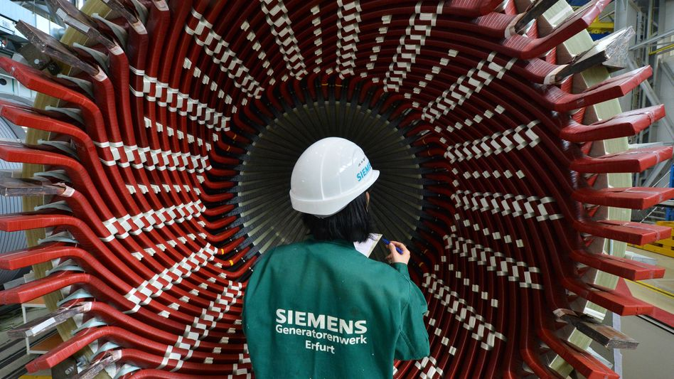 Generator von Siemens: Der Konzern baut wieder Spannung auf