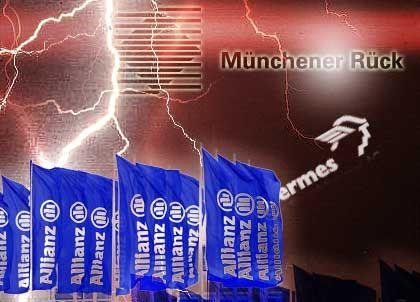 Stürmische Zeiten: Die deutschen Versicherer schlitterten 2002 von einer Krise in die nächste