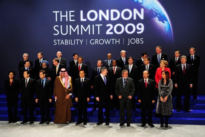G20-Krisen-Sitzung 2009 in London