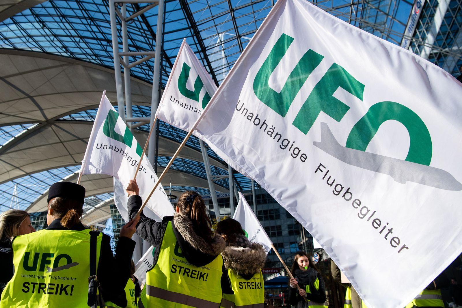 Flugbegleiter-Streik bei Lufthansa - Ufo