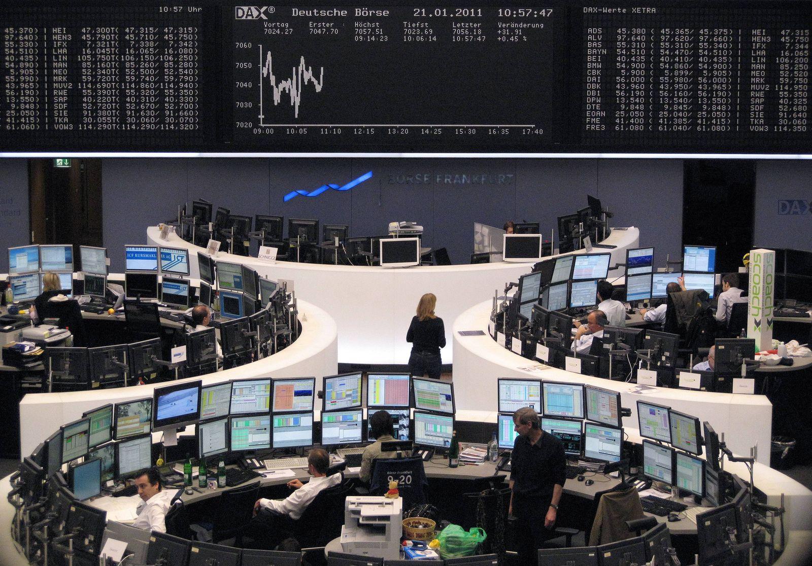 Börse Frankurt/ Händler