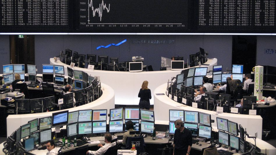 Abwärts: Die Schuldenkrise in Europa hat den Dax am Montag ausgebremst