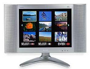 Weg mit den Röhren: Die LCD-Technik ermöglicht auch Mini-Fernseher wie den Sharp Aquos mit 40 Zentimetern Bilddiagonale