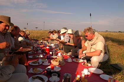 Frische Luft macht hungrig: Die Gäste greifen zu