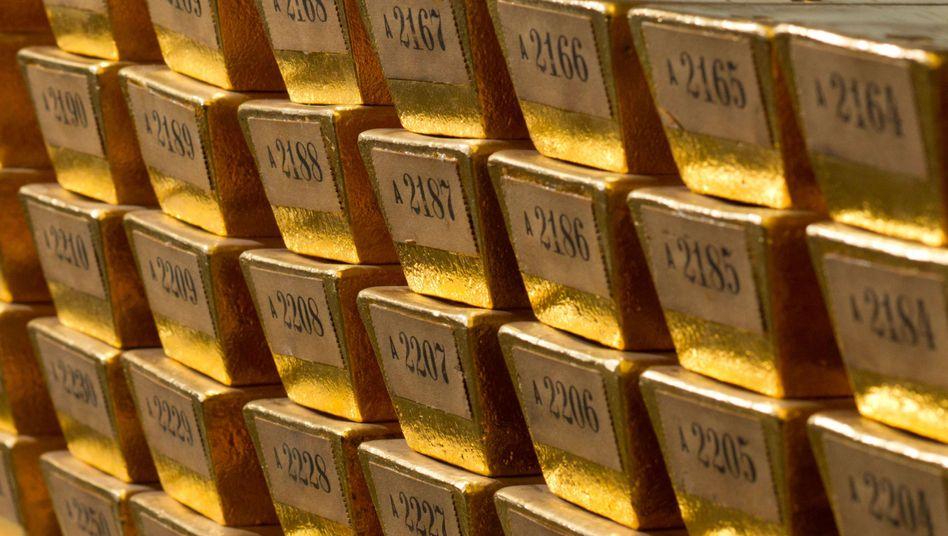Auf Talfahrt: Der Goldpreis fällt seit Monaten.
