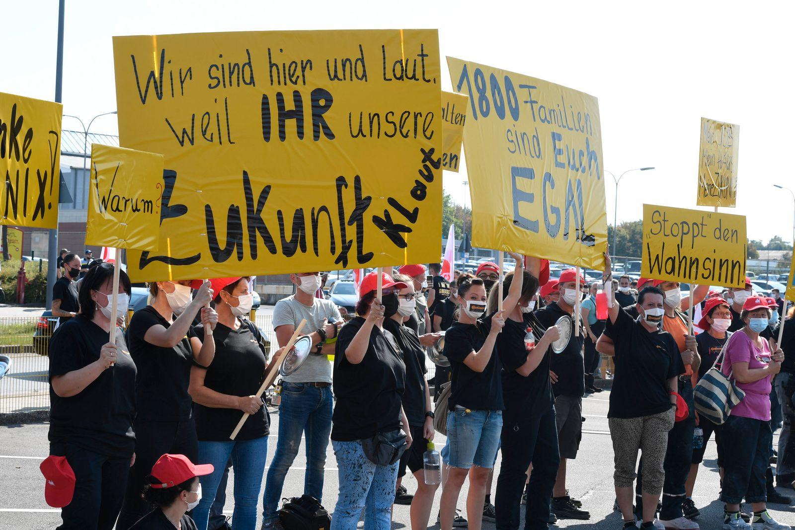 Continental-Reifenwerk in Aachen - Demonstration