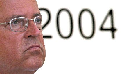 Finanzminister Eichel: Defizitgrenze zum dritten Mal in Folge gerissen