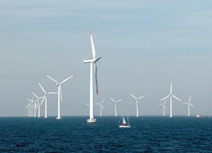 Frischer Wind für den Klimaschutz: Die Regierung will unter anderem Windparks auf offener See fördern
