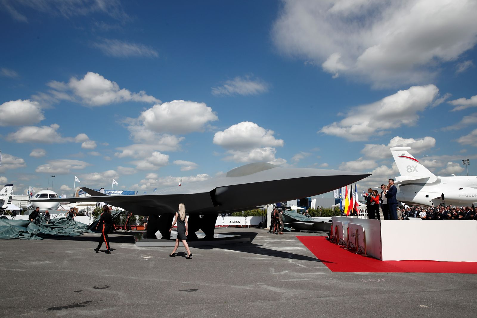 New Generation Fighter (NGF) / Paris Air Show at Le Bourget Airport