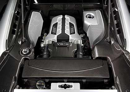 Schmuckstück: Absoluter Blickfang ist der 4,2 Liter große V8-Motor aus dem RS4