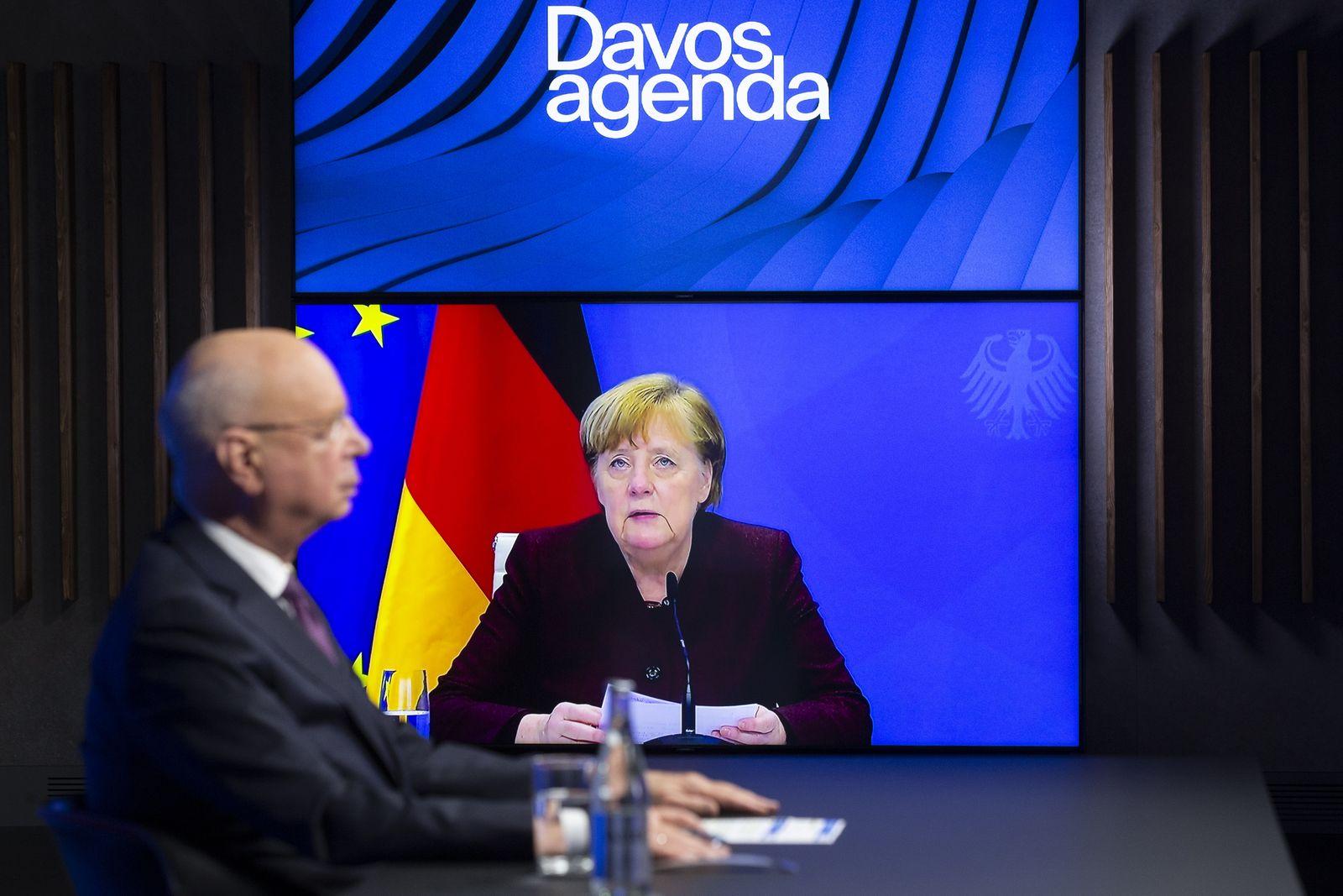 Davos Agenda online meeting, Cologny, Switzerland - 26 Jan 2021