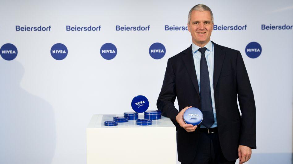 Ist dann bald weg: Stefan Heidenreich, Vorstandschef der Beiersdorf AG.