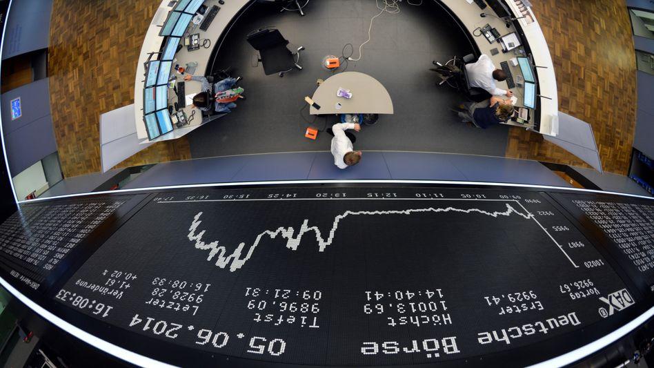 Handelssaal der Deutschen Börse: Gespannter Blick in die USA