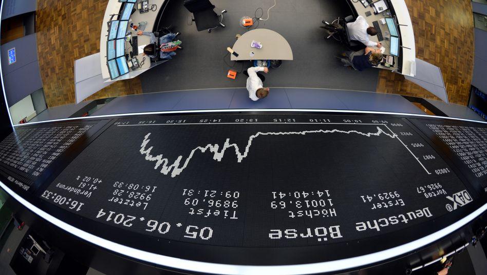 Börse in Frankfurt: Dax-Schwergewichte wie Siemens und Bayer legen in dieser Woche Quartalszahlen vor
