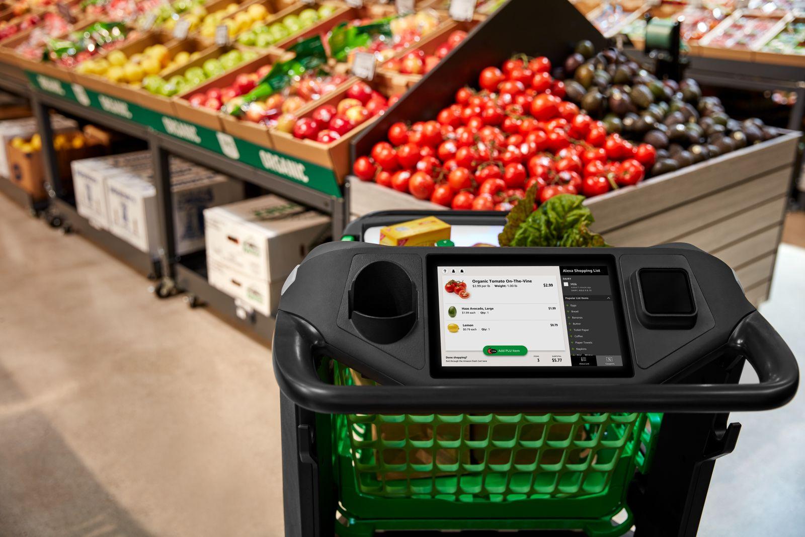 amazon services / intelligenter Einkaufswagen