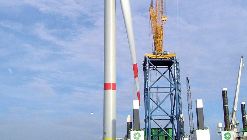 In schwerer See: Offshore-Windkraftanlage von Senvion (ehemals Repower)