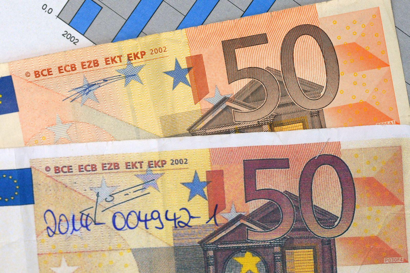 gefälschte 50-Euro-Banknote