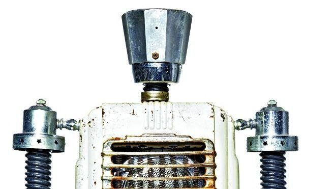 """Roboterskultpur """"Arvin"""" aus der Serie Robot Works des amerikanischen Künstlers Gordon Bennett"""