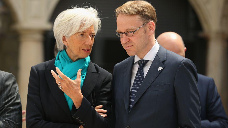 Nicht immer einer Meinung: Bundesbankchef Jens Weidmann und EZB-Chefin Christine Lagarde