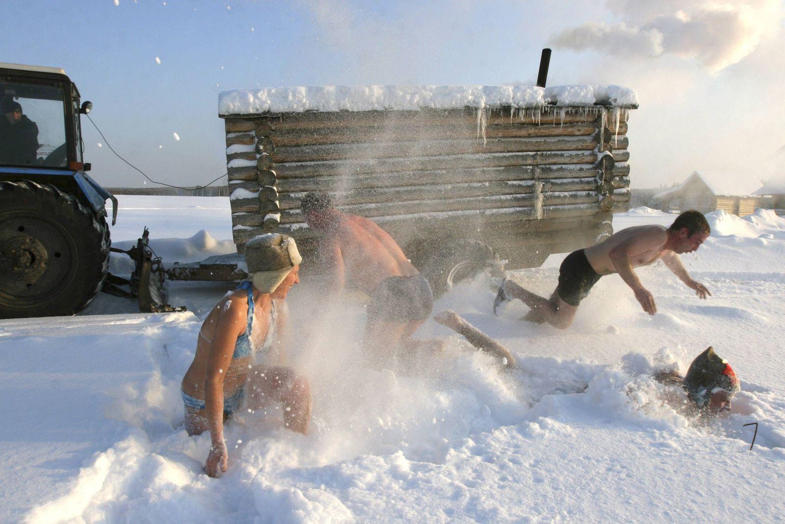 Sauna in Russland
