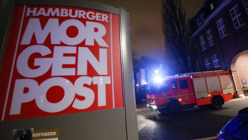 """Charlie-Hebdo-Karikaturen: Brandanschlag auf """"Hamburger Morgenpost"""""""