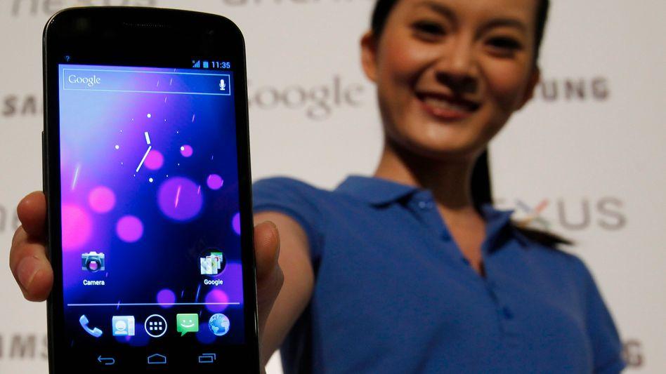 Samsung-Handy Galaxy Nexus: Smartphones werden zum Stützpfeiler der Koreaner