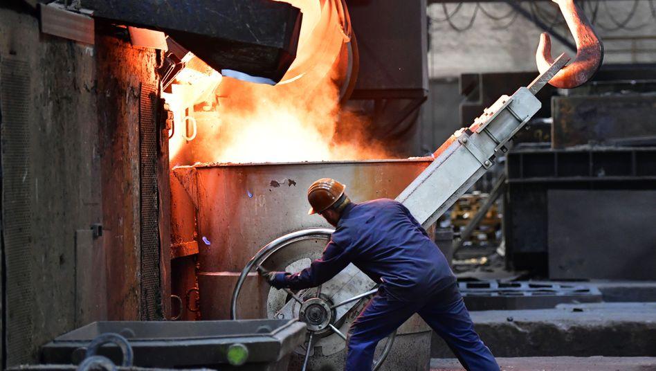 Eisengießerei in Meuselwitz, Thüringen: Die Manager in den Chefetagen deutscher Unternehmen sind wieder zuversichtlicher geworden