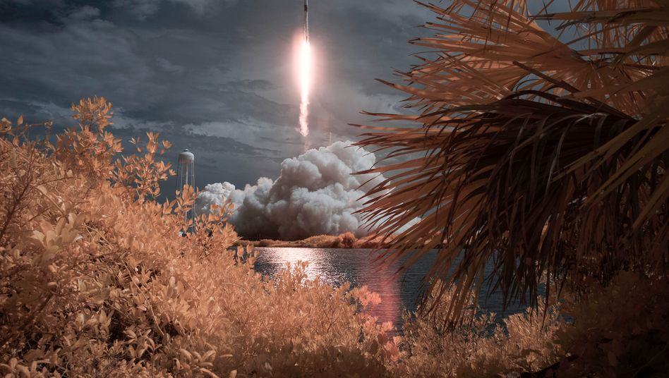 Start der SpaceX-Rakete Falcon 9 am Samstag in Florida