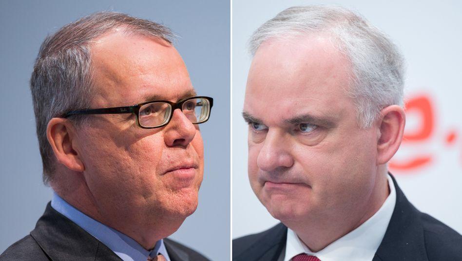 """""""ich hätte ihn früher ins Vertrauen ziehen sollen"""": Eon-Chef Johannes Teyssen (rechts) entschuldigt sich indirekt bei Klaus Schäfer (l.)"""
