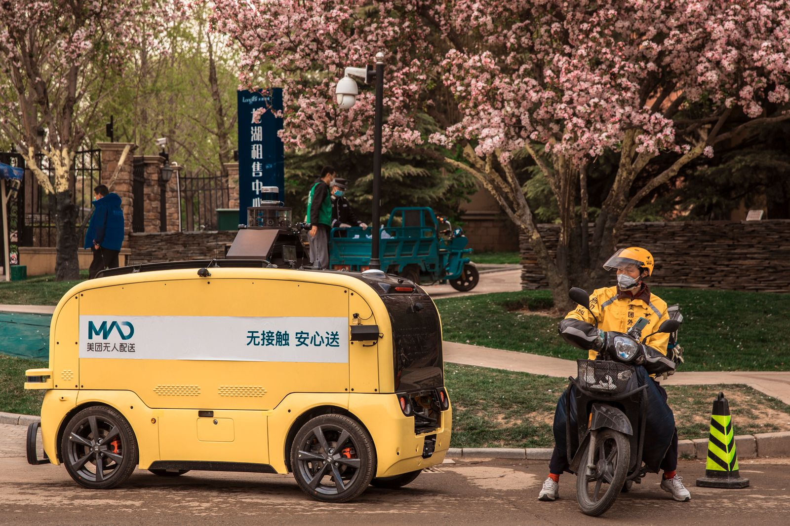 Meituan Autonomous Delivery Vehicle Tested In Beijing