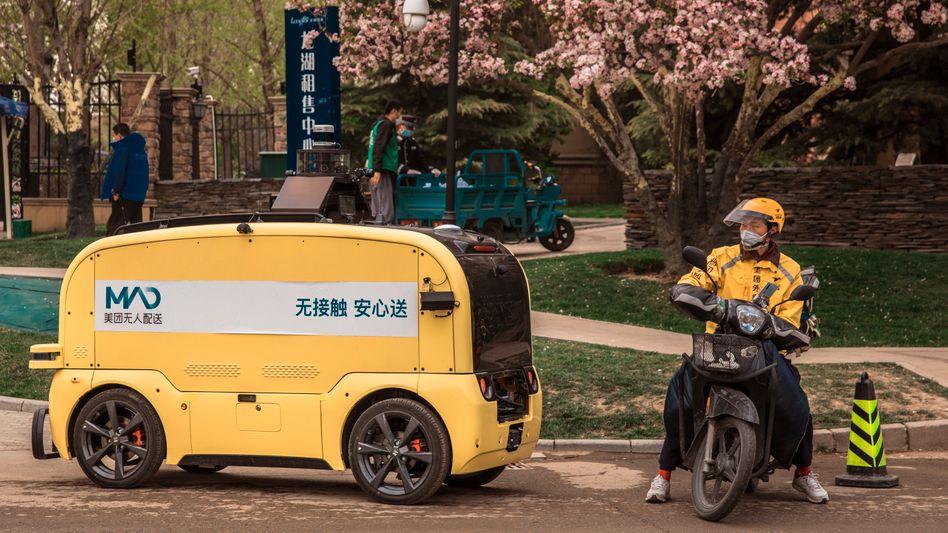 Lieferfahrzeug von Meituan: Der Chef des Unternehmens hat ein Gedicht gepostet - und schnell wieder gelöscht