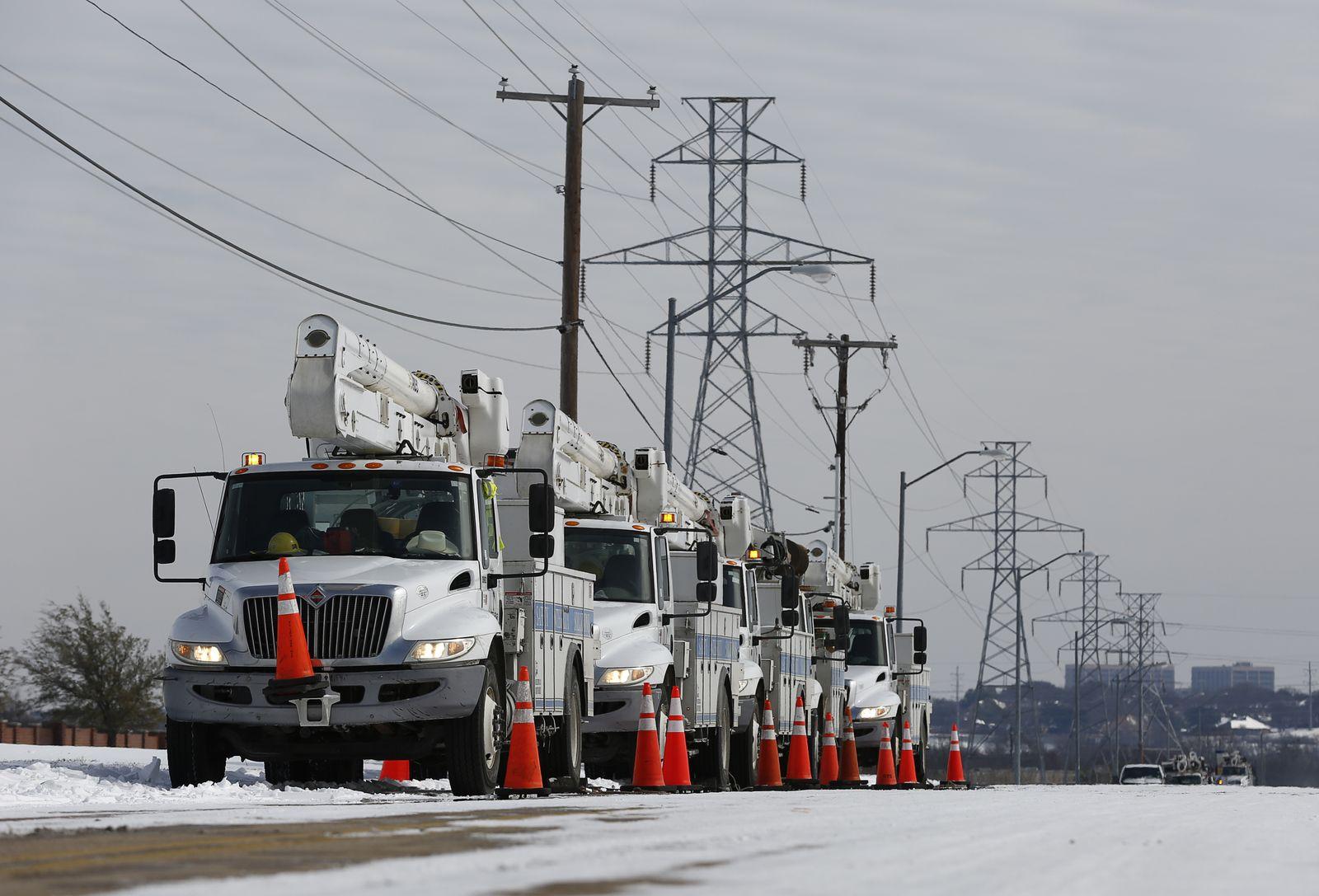 Texas Deep Freeze, Fort Worth, USA - 16 Feb 2021