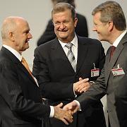 Piech, Wulff und Wiedeking (von links): Kommt die Zweckehe doch noch zustande?