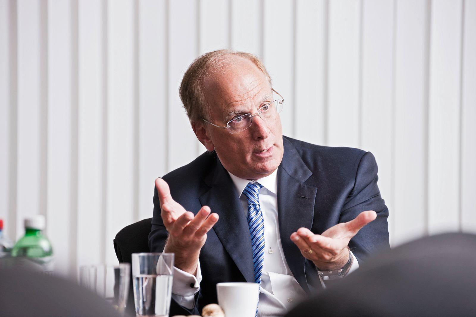 EINMALIGE VERWENDUNG Larry Fink, CEO Black Rock