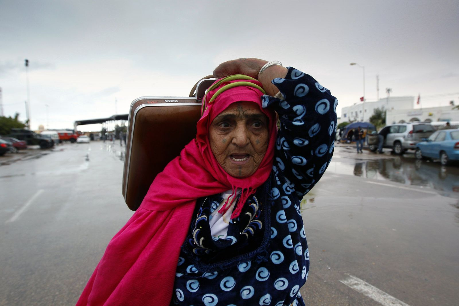 Proteste Libyen Mittwoch/ Grenzübergang Raf Jidr