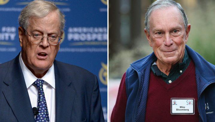 Koch, Bloomberg, Trump und Co.: US-Tycoone im Klima-Krieg