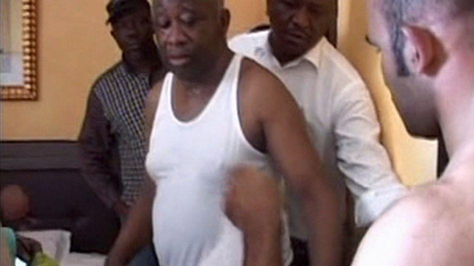 Ende eines Bürgerkriegs: Der abgewählte Präsident Gbagbo bei seiner Festnahme