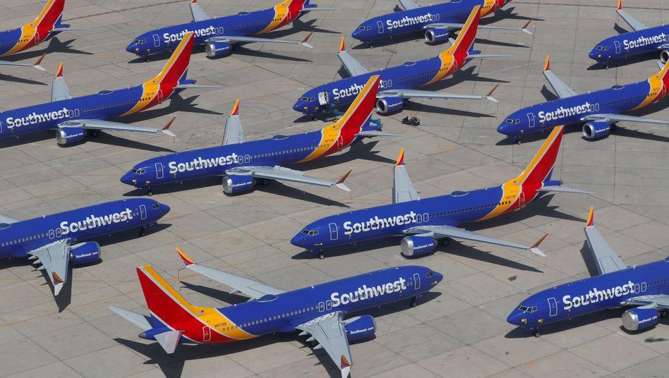 Boeing-737-Max-Maschinen des amerikanischen Billigfliegers Southwest Airlines