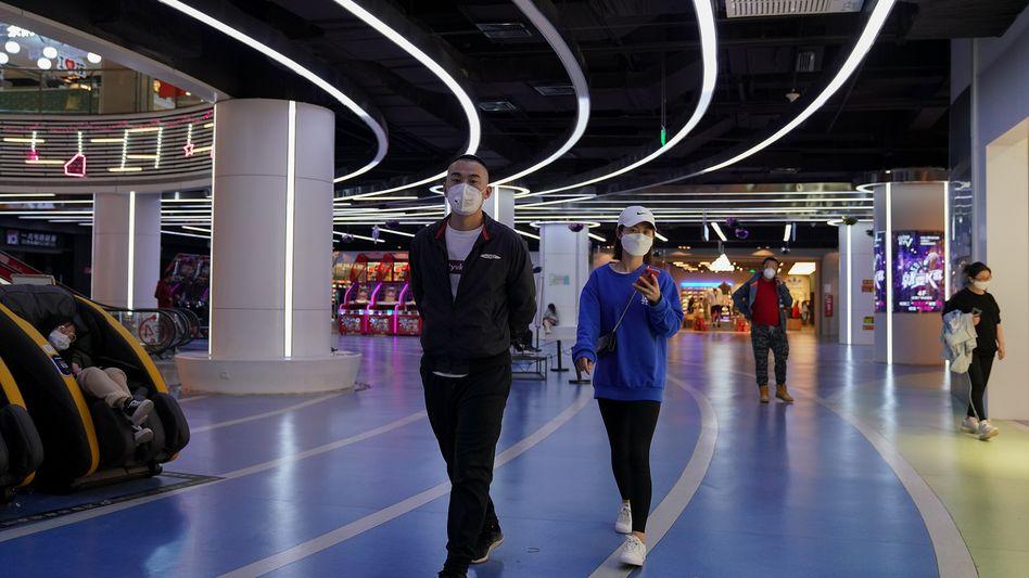 Shoppingmall in Peking: Die Einkaufslust in China zieht wieder an