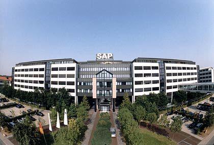 Riesiges Rechenzentrum: Die Konzernzentrale von SAP wurde 1992 nach den Plänen des Walldorfer Architektenbüros Vorfelder fertig gestellt. Inzwischen besteht das Hauptquartier aus 13 Gebäuden.