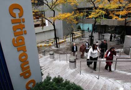 Zentrale der Citigroup in New York: Erst 25, dann weitere 20 Milliarden Dollar aus dem Rettungsfonds