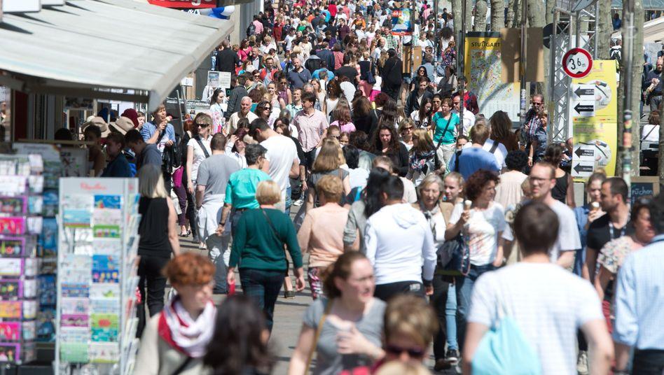 Einkaufsmeile Königstraße in Stuttgart: Die Stimmung der deutschen Unternehmen ist alles andere als königlich