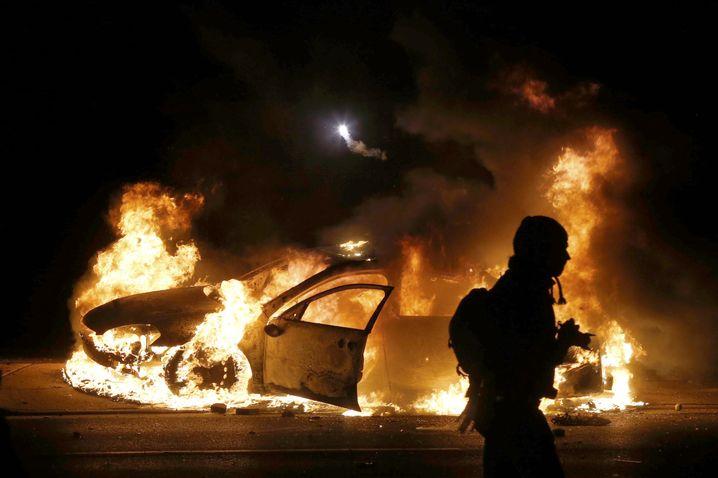 """Brennender Streifenwagen in Ferguson: """"Die Aggression war weg"""""""