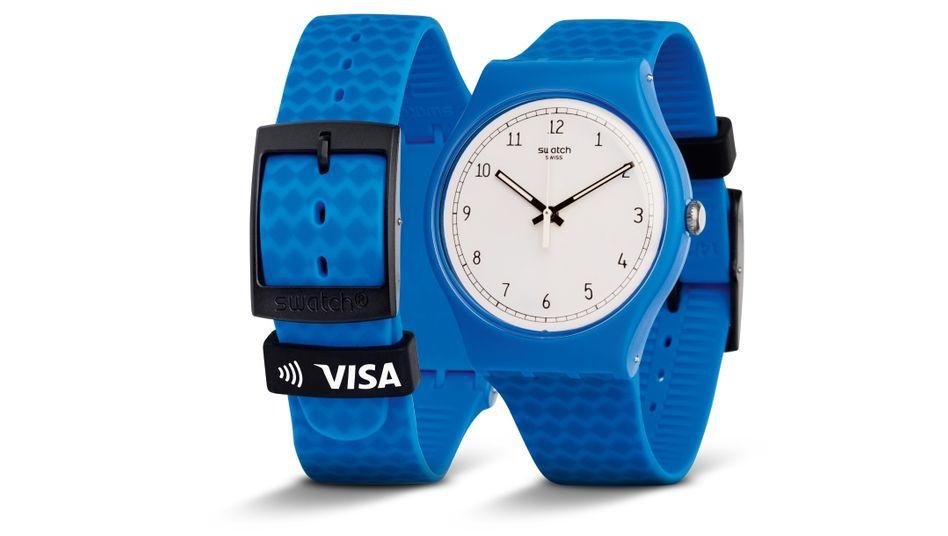 """Die """"Bellyma Sky Blue"""" - eine Uhr aus dem Hause Swatch: Dem Konzern geht es besser denn je."""