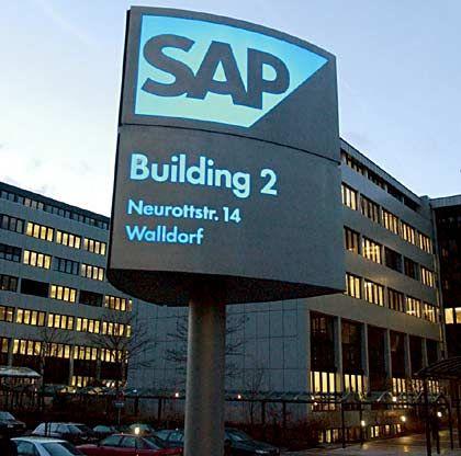 Riesige Probleme für die Konkurrenz: Firmengebäude des Softwareherstellers SAP in Walldorf