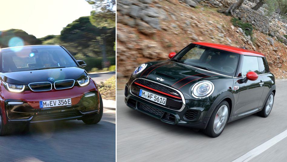 BMW i3 und Mini Cooper: Die BMW-Gruppe hat im vergangenen Jahr den Autoabsatz gesteigert.