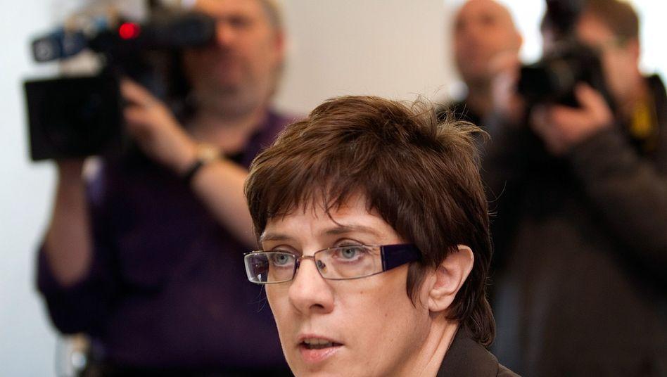 Will die große Koalition im Saarland: Ministerpräsidentin Annegret Kramp-Karrenbauer